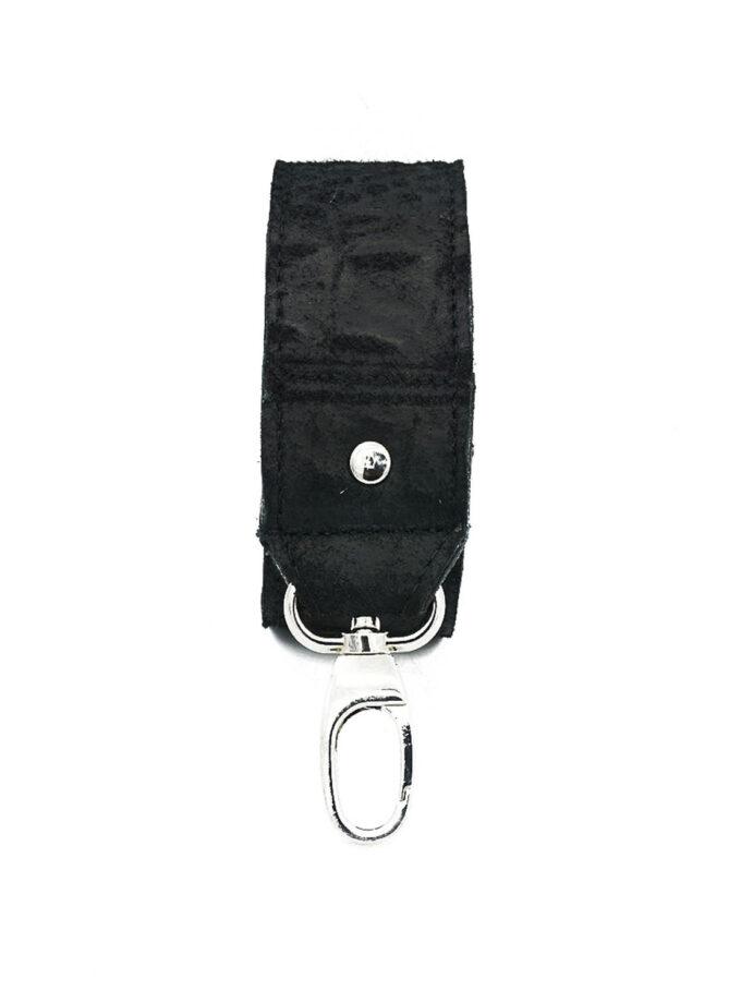 bagstrap black croco front