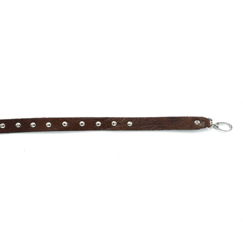 Bagstrap brown studs thin long overall