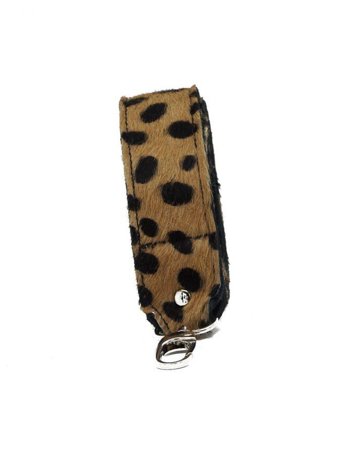 Bagstrap brown cheetah front