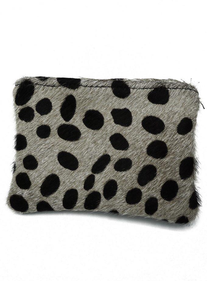 Black & White big dots cheetah wallet