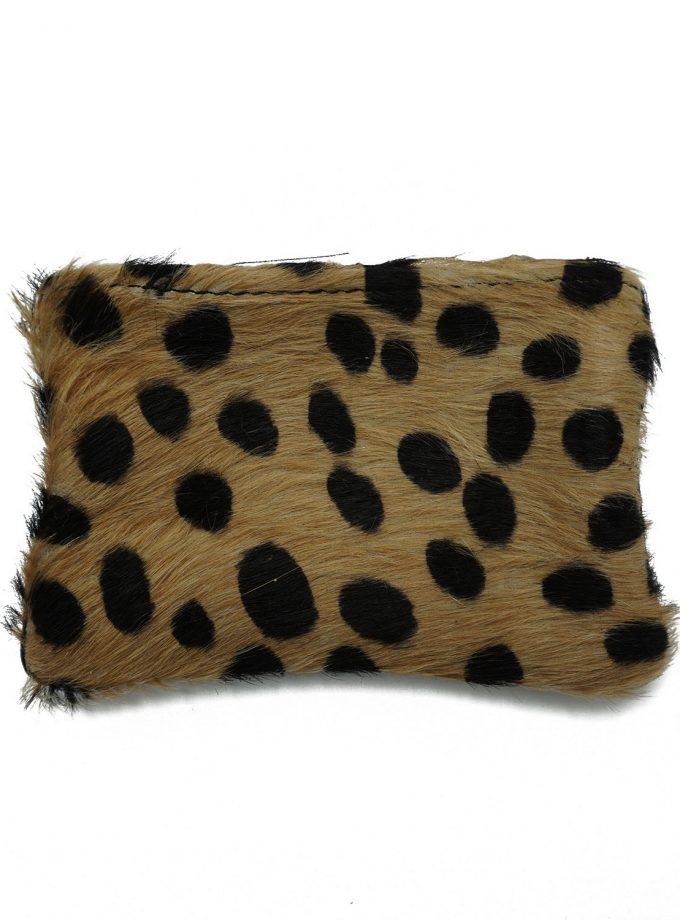 Brown cheetah wallet