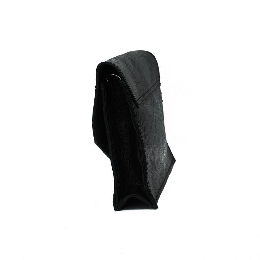 Criss Cross black leather bag